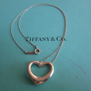 Tiffany and CO Open Heart Necklace 9''